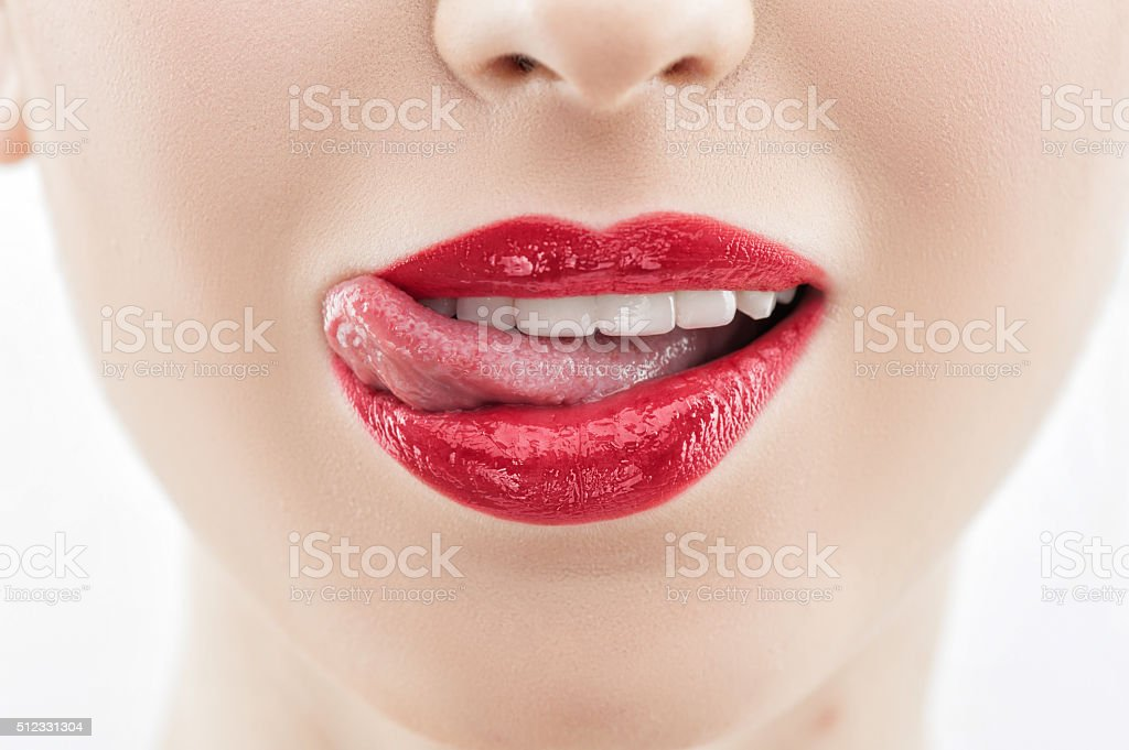 Attractive young girl is evincing her desire stock photo