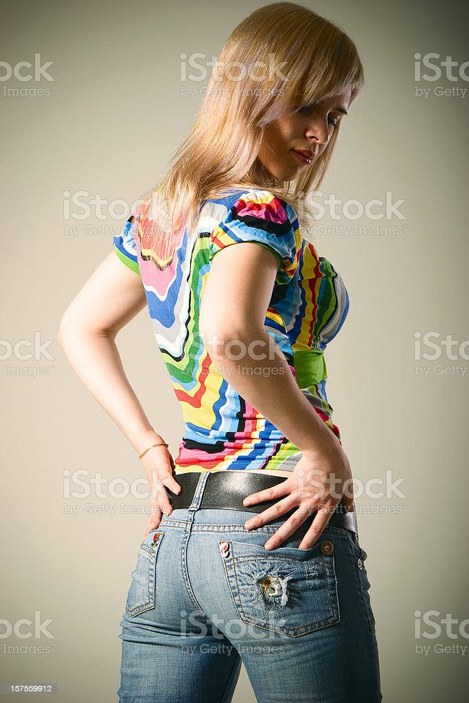 Attractive young girl royalty-free stock photo