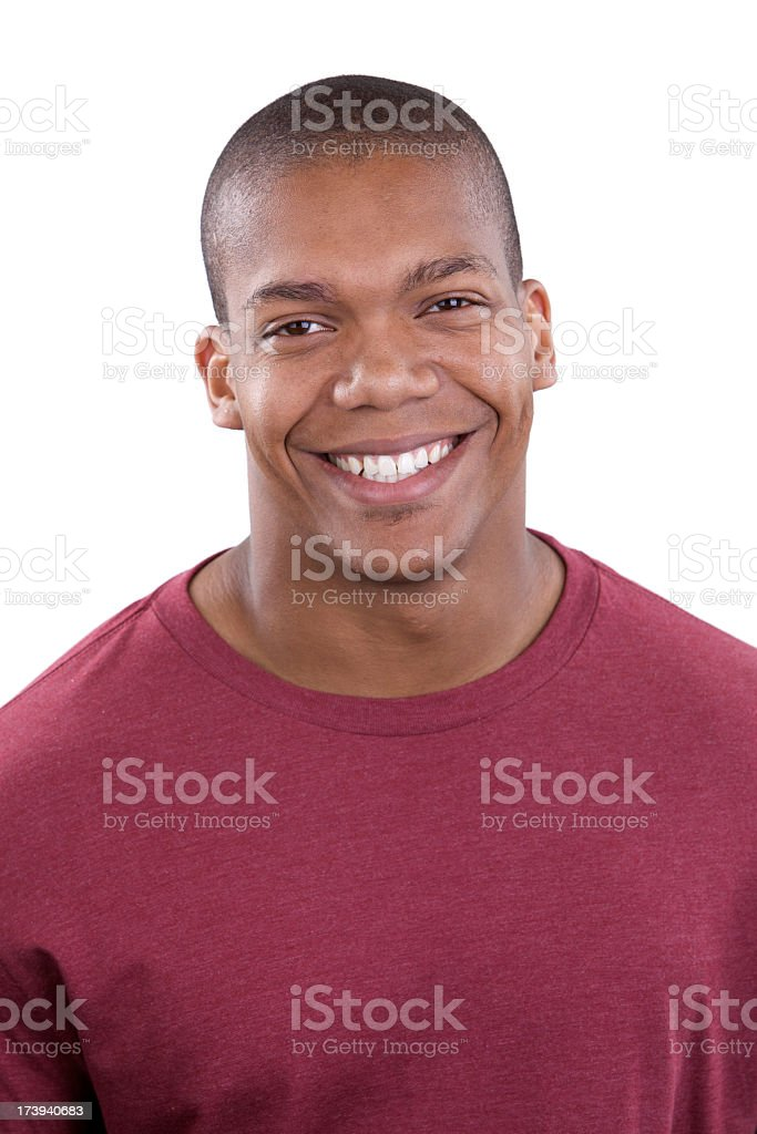 Attractive young male smiling at camera royalty-free stock photo
