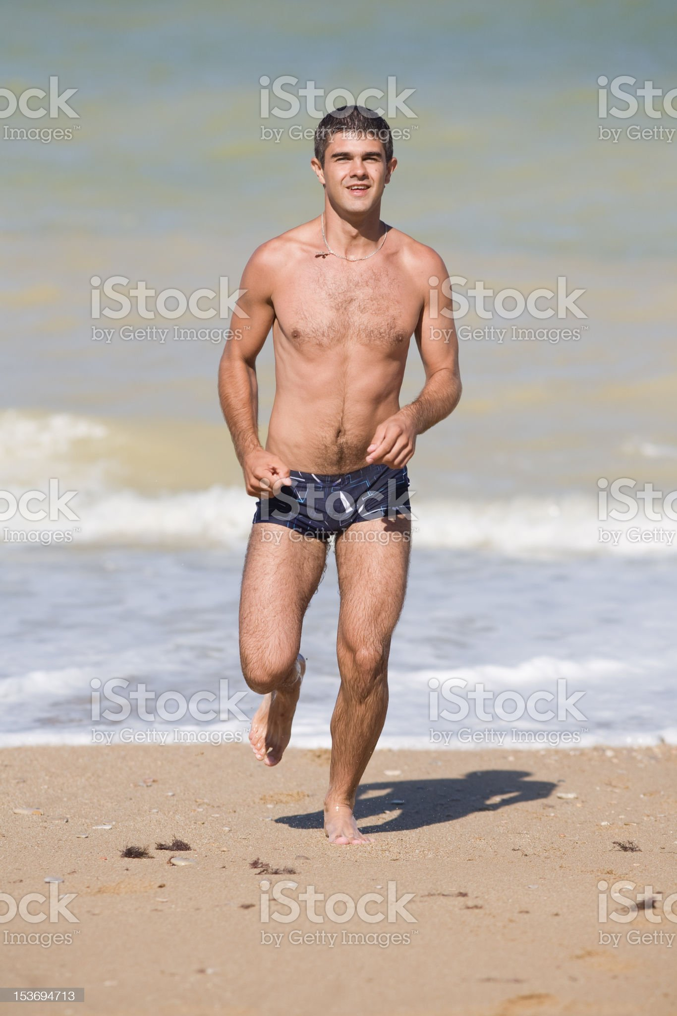 Attractive young man at the sea royalty-free stock photo