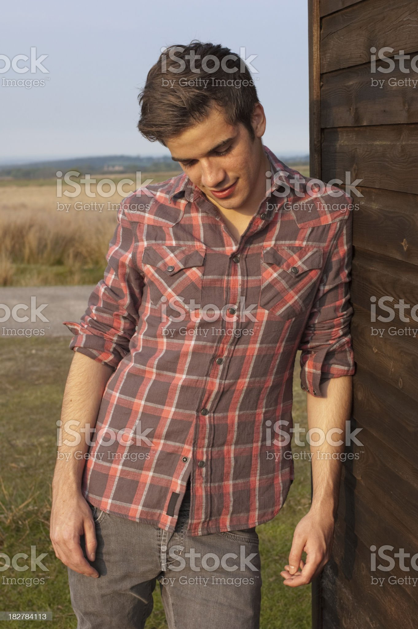 Attractive young man royalty-free stock photo
