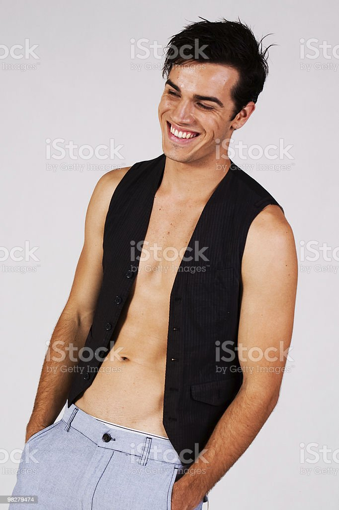 Attractive young man smiling stock photo