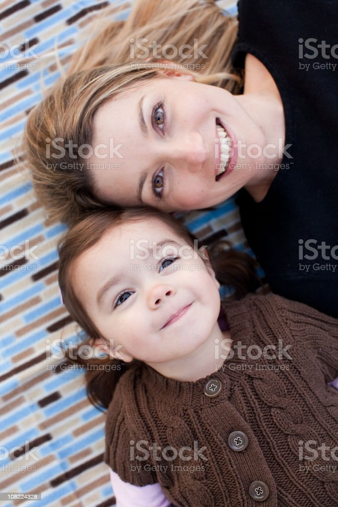 Attractive young Mom and Daughter royalty-free stock photo