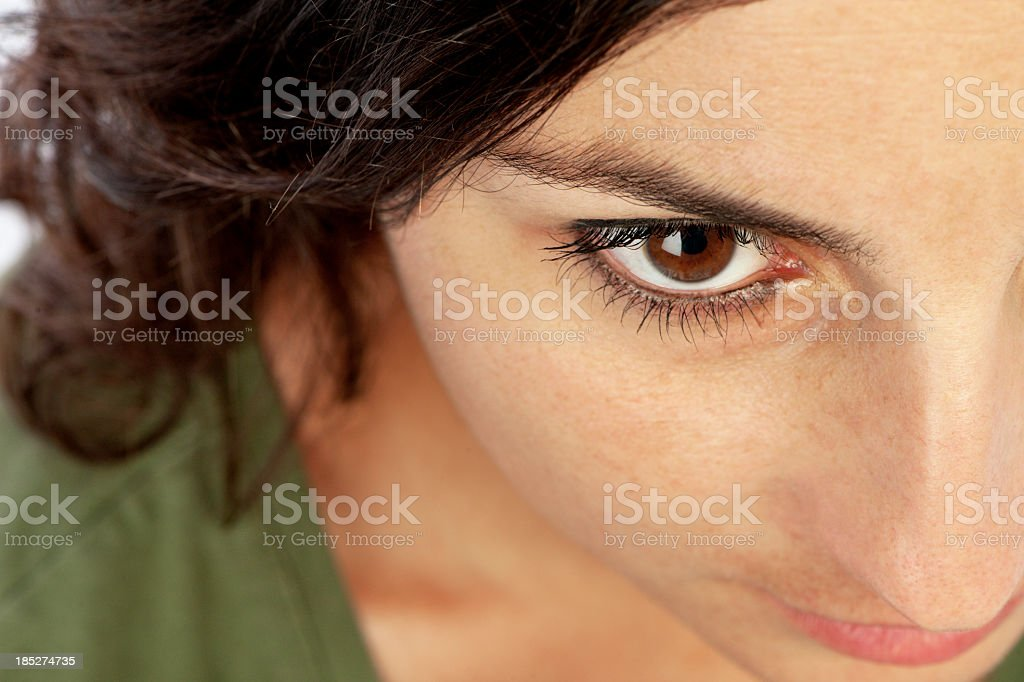 Attractive Young Woman Close Up stock photo