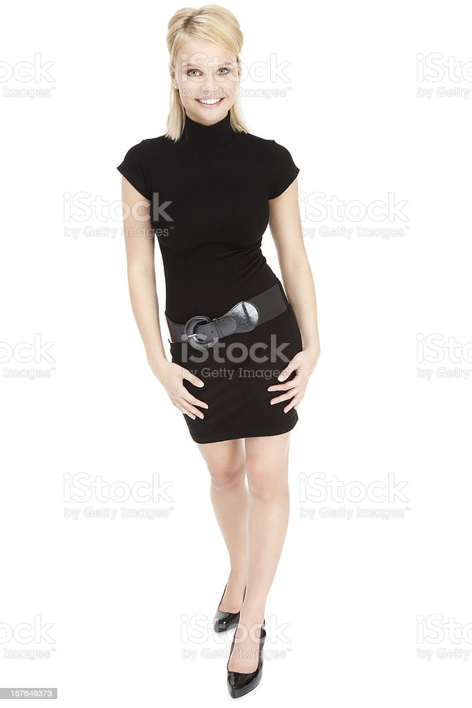Attractive Young Woman in Little Black Dress royalty-free stock photo