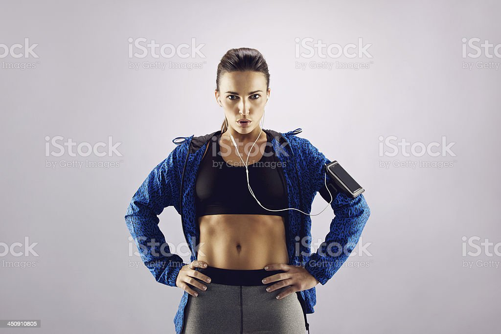 Attractive young woman in sportswear royalty-free stock photo