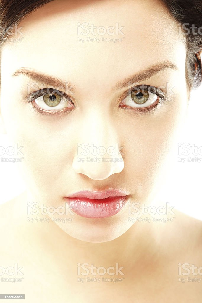 Attractive Young Woman Looking at the Camera royalty-free stock photo