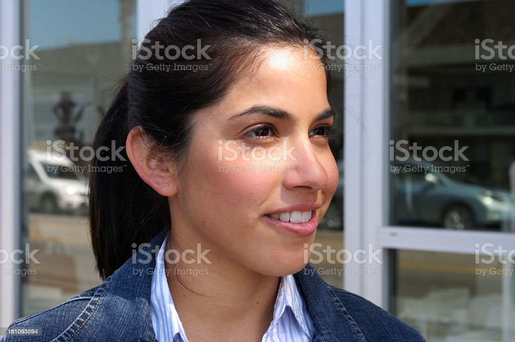 Attractive Young Woman Looking to Side royalty-free stock photo