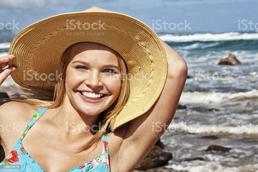 Attractive Young Woman on Vacation stock photo
