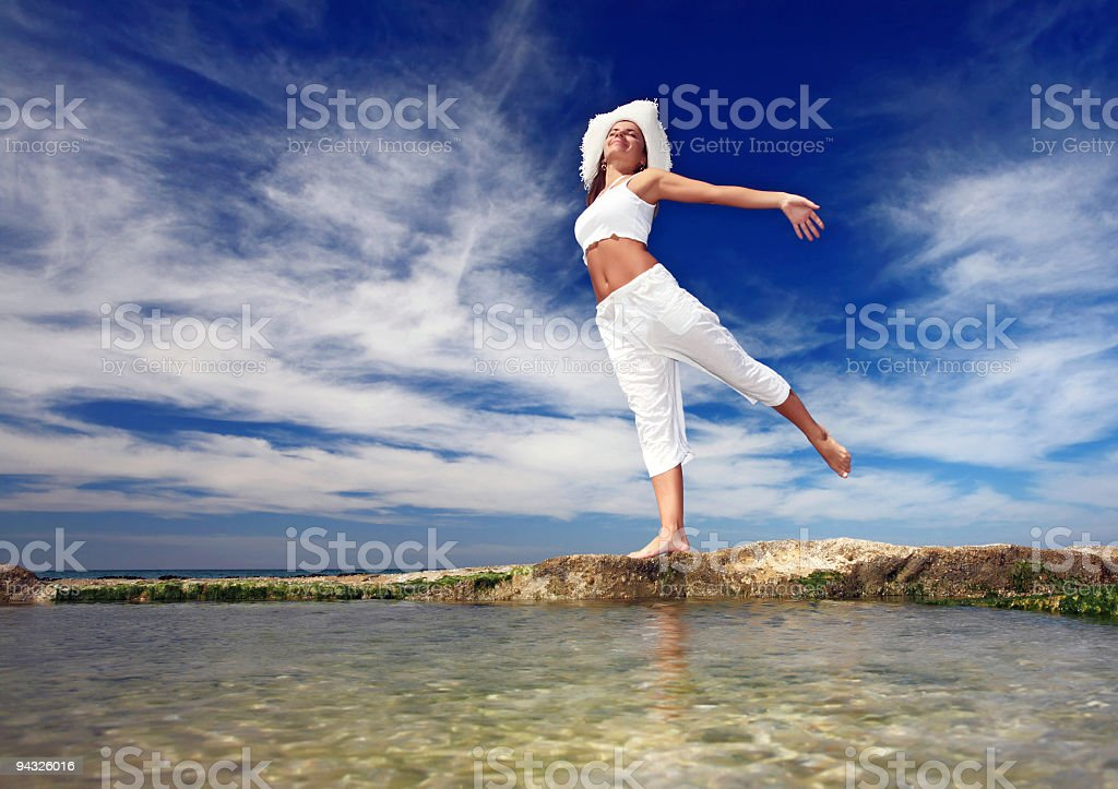 Attractive young woman. royalty-free stock photo