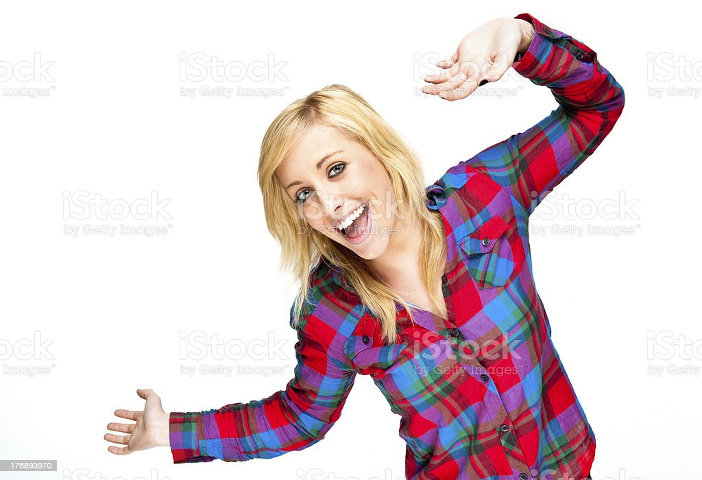 Attractive young woman smiling royalty-free stock photo