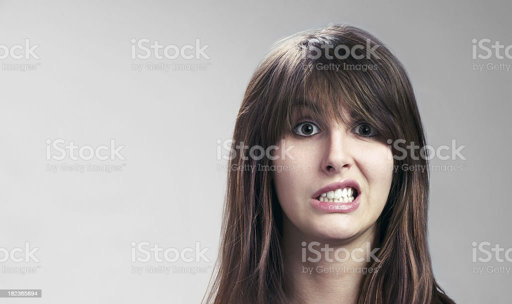 Attractive Young Woman Sneers royalty-free stock photo