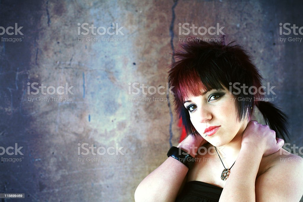 Attractive youth portrait stock photo