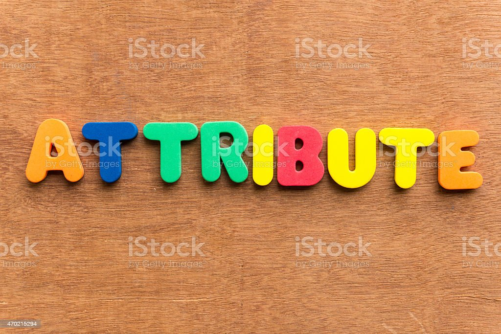 attribute stock photo
