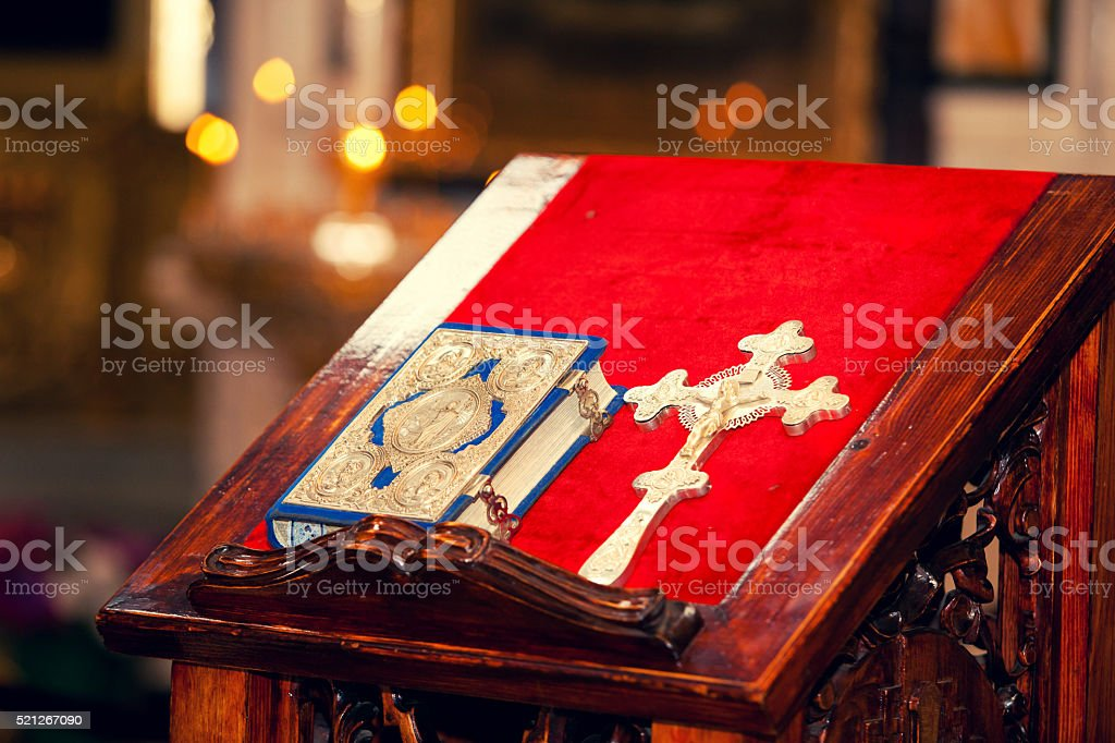 attributes of Christian church stock photo