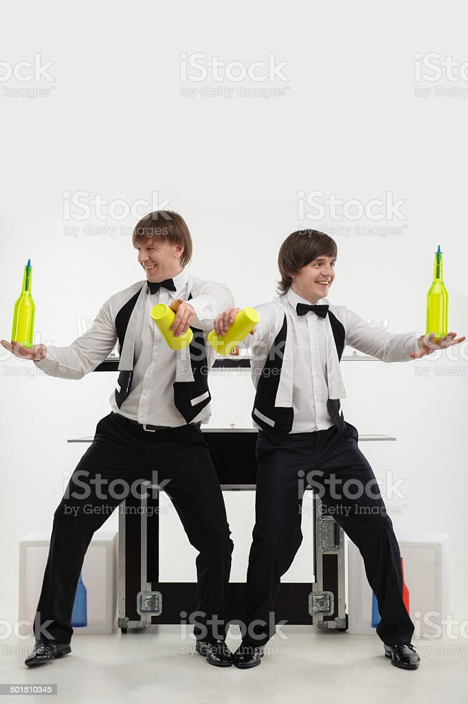 Attributes of good barman stock photo