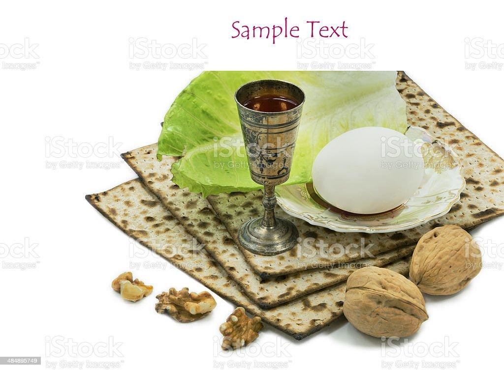 Attributes of Jewish Passover Seder Holidays stock photo