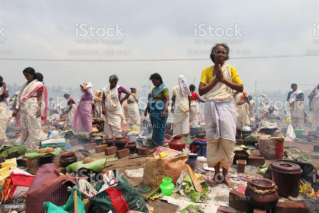 Attukal Pongala stock photo