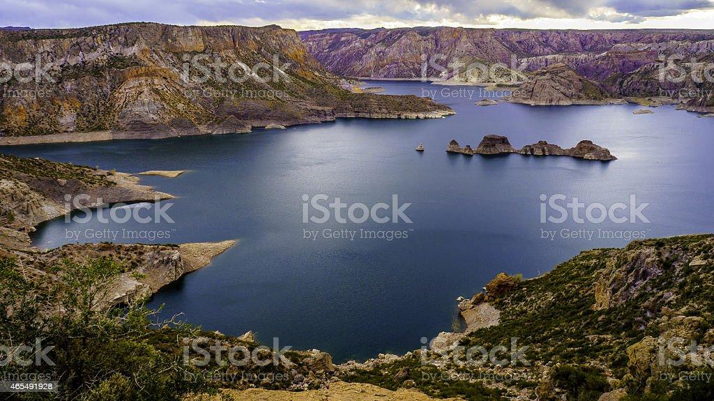 Atuel River. San Rafael, Mendoza Argentina stock photo
