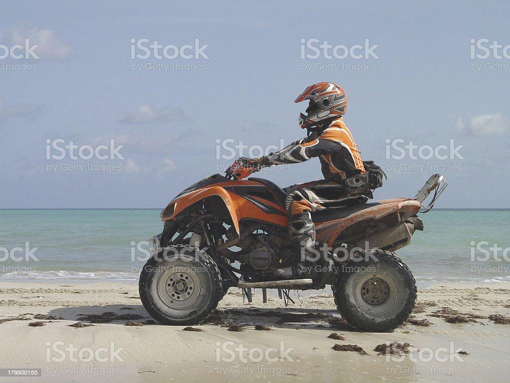 Atv on the beach in Haiti royalty-free stock photo