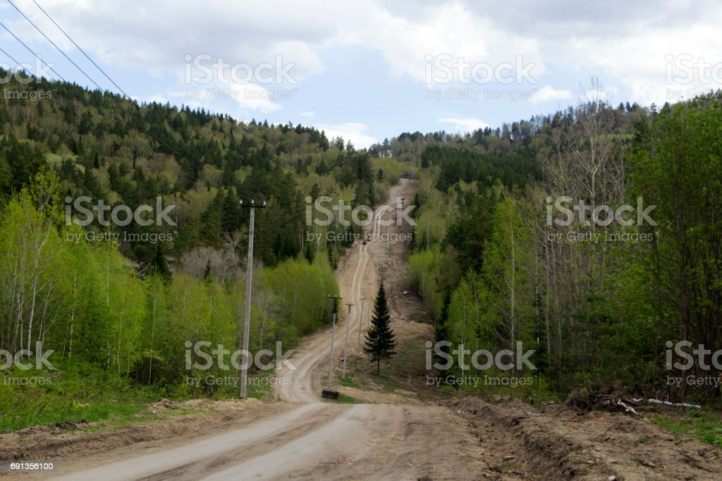 ATVs in the mountains stock photo