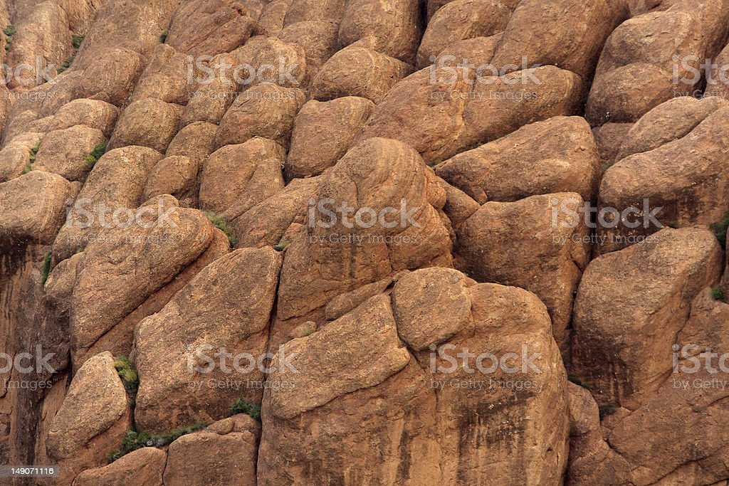 atypical oval rock formations royalty-free stock photo