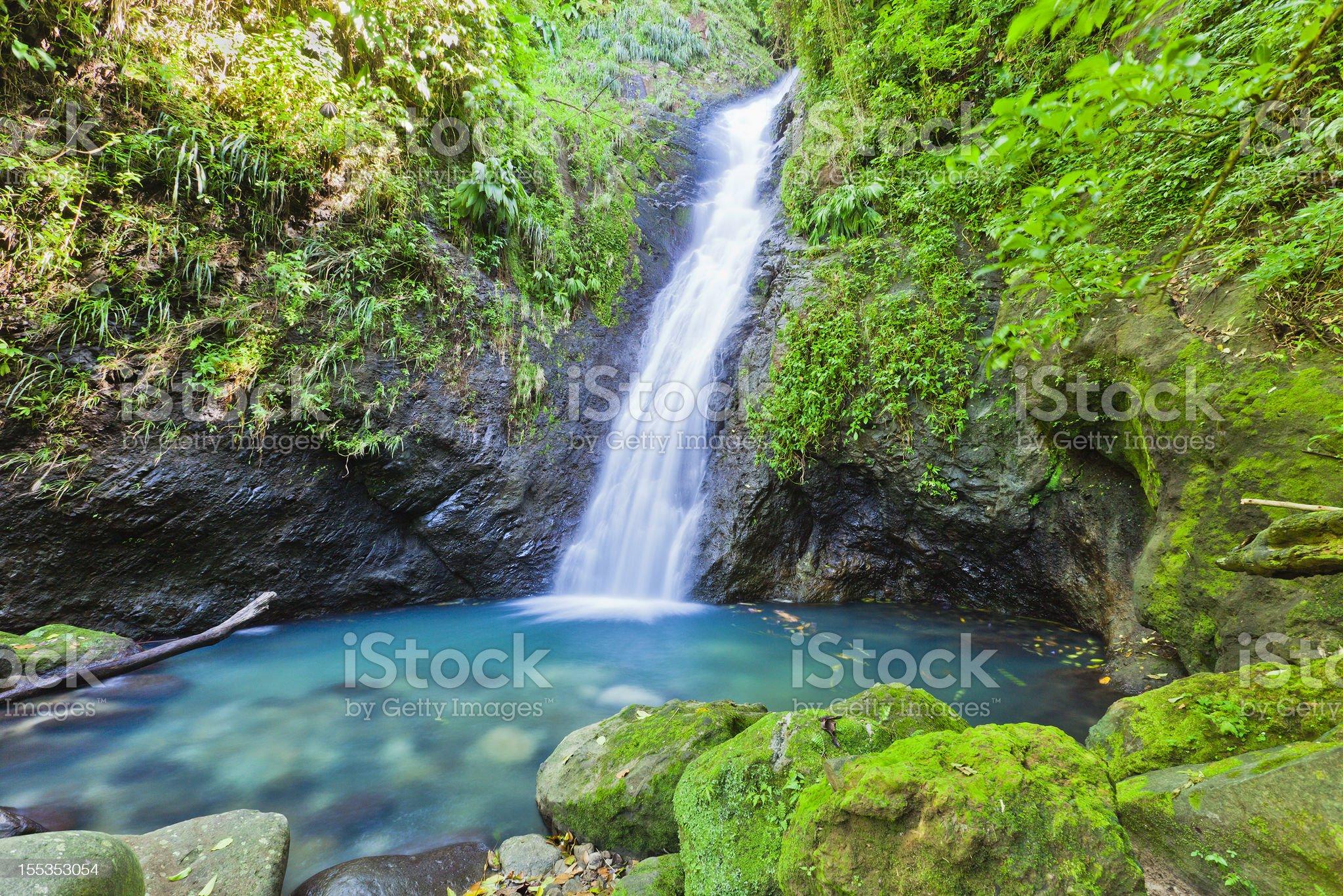 Au Coin Falls, Grenada W.I. royalty-free stock photo
