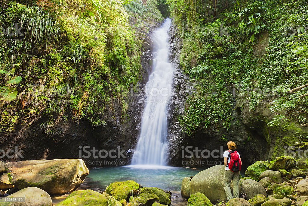 Au Coin Falls, Grenada W.I. royalty-free stock photo