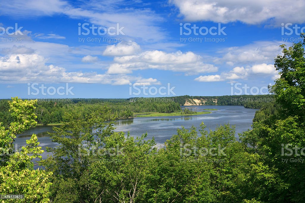 Au Sable National Scenic River, Michigan stock photo