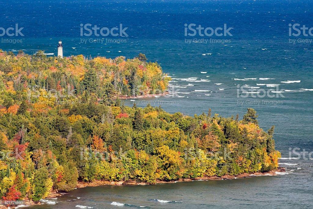 Au Sable Point Lighthouse stock photo