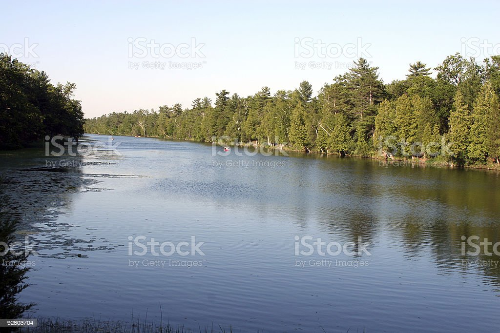 Au Sable River canoeing, Canada stock photo