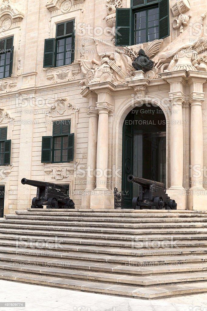 Auberge de Castille in capital of Malta - Valletta, Europe stock photo