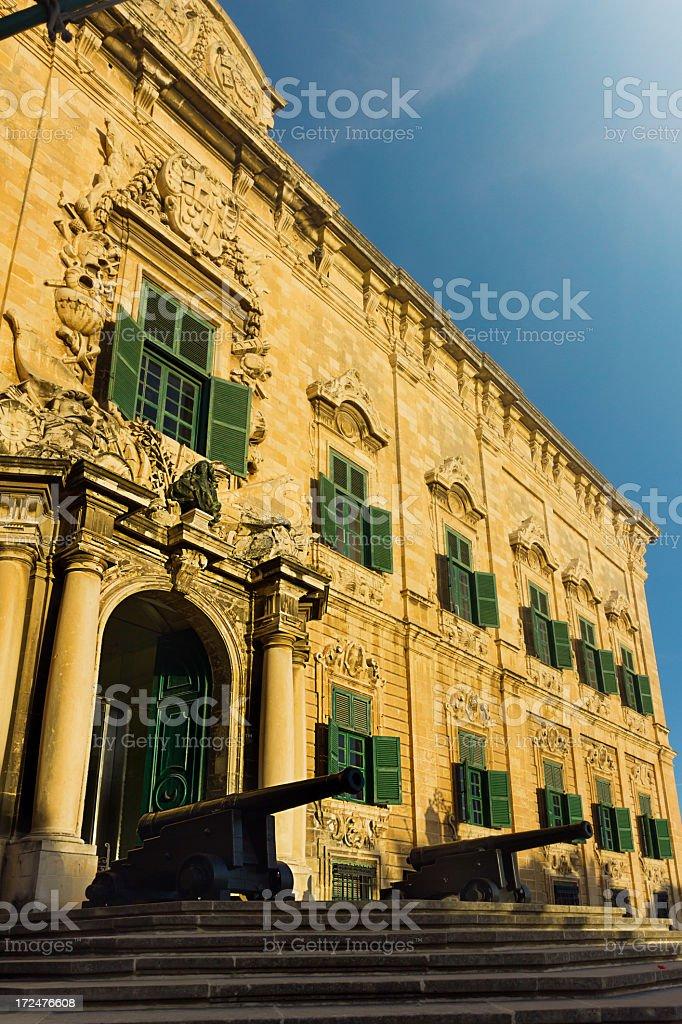 Auberge de Castille. Malta stock photo
