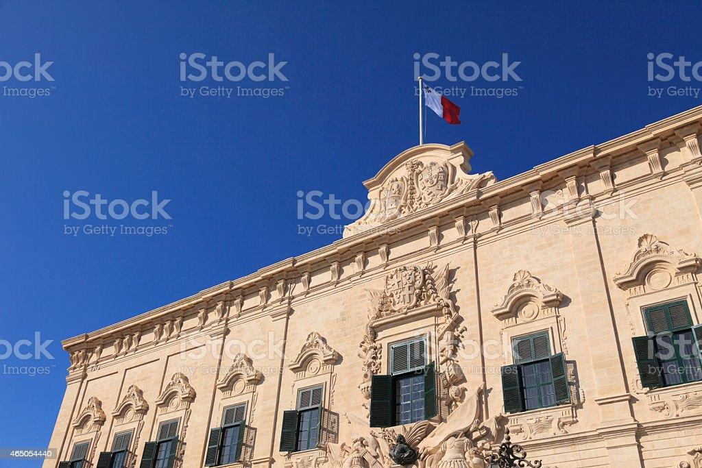 Auberge de Castille - The Prime Minister's office in Malta stock photo