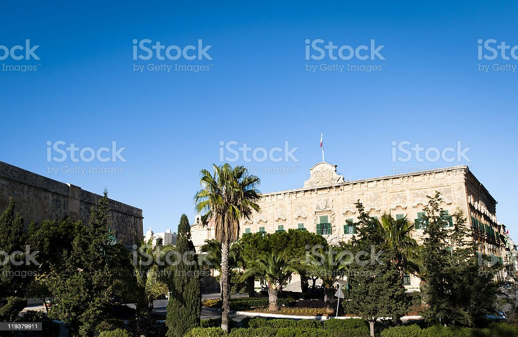 Auberge de Castille, Valletta stock photo