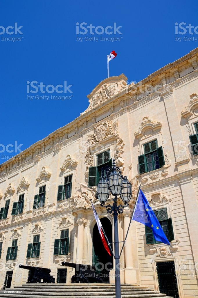 Auberge de Castille, Valletta. stock photo
