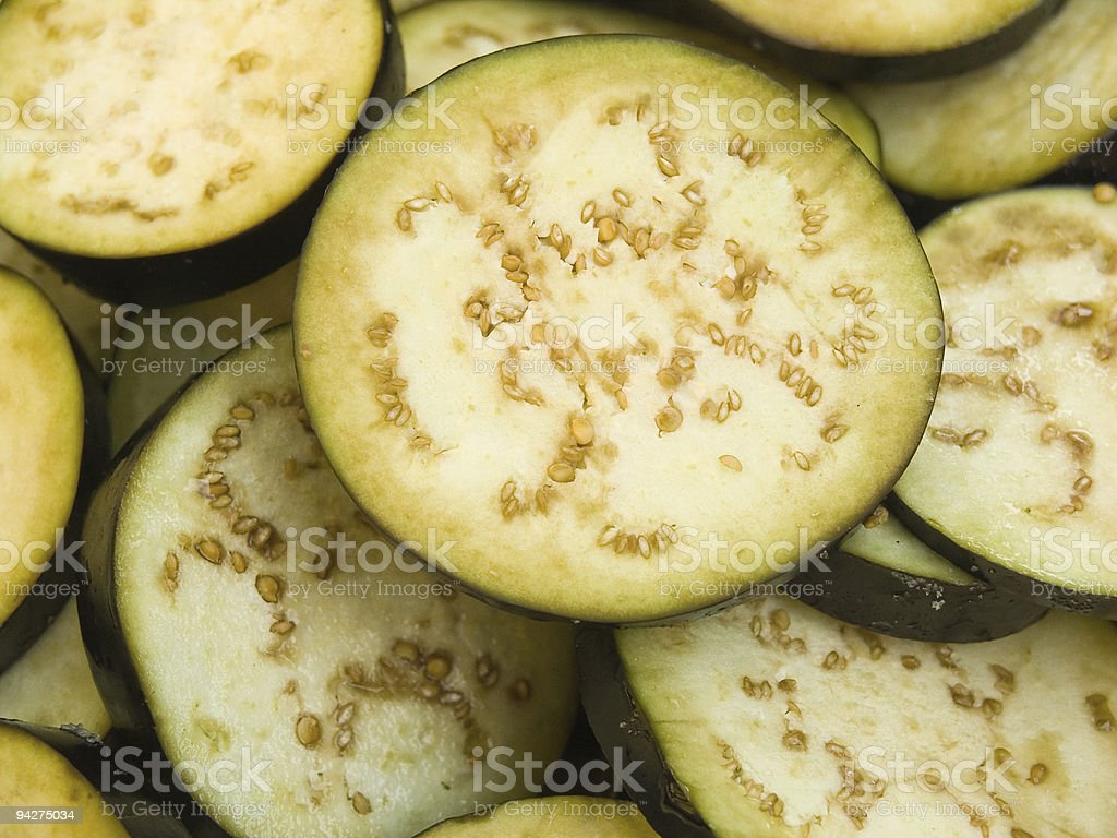 Aubergine slices royalty-free stock photo