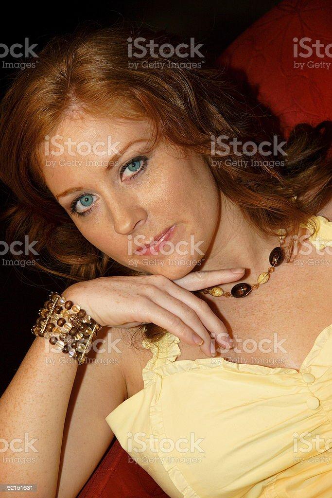 auburn beauty - adult woman stock photo