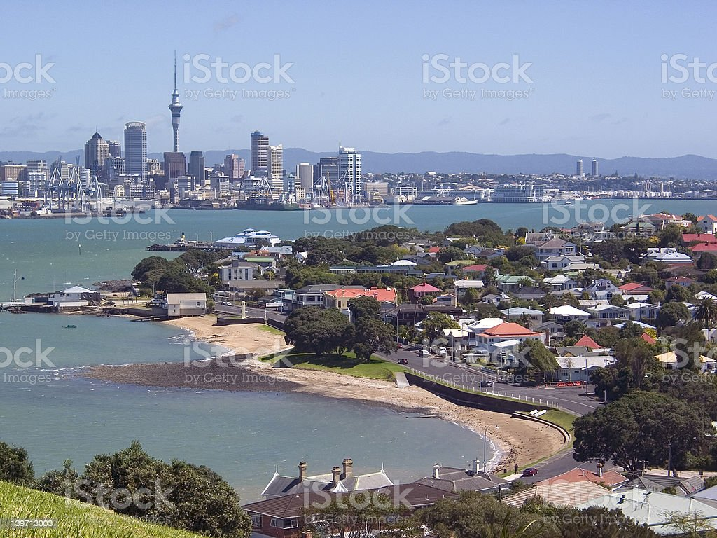 Auckland and Harbour royalty-free stock photo
