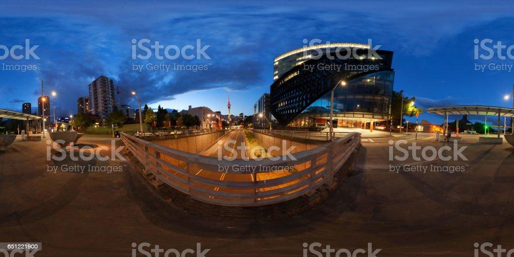 Auckland City 360 At Night. stock photo
