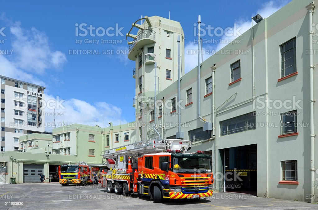 Auckland City Fire Station in Auckland New Zealand stock photo