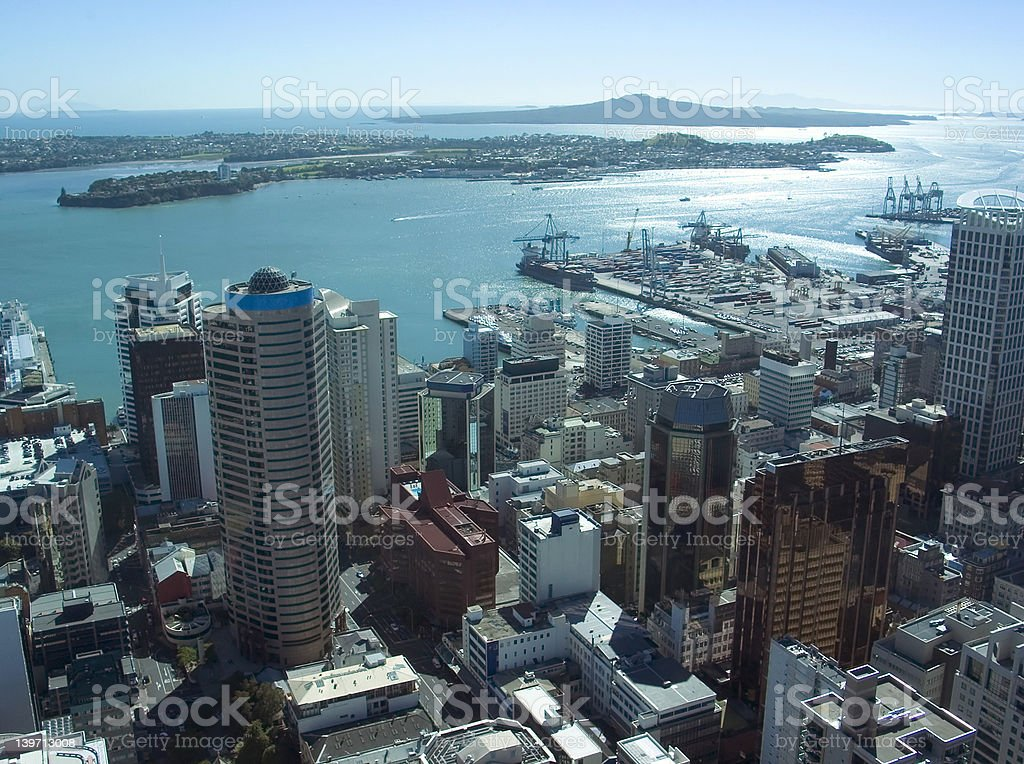 Auckland City royalty-free stock photo