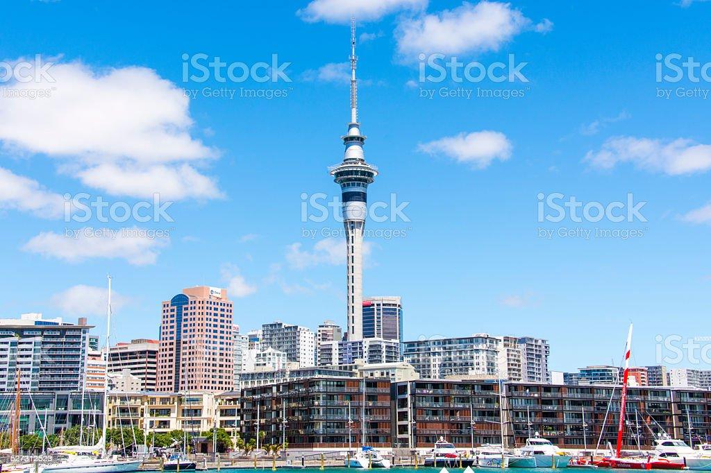 Auckland City Wynyard stock photo