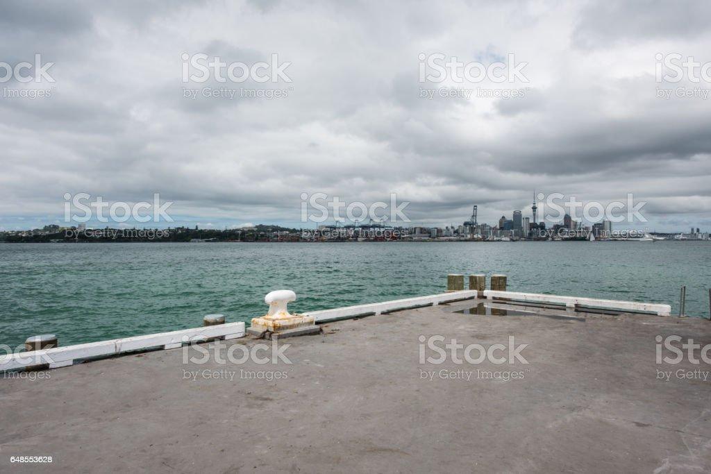 Auckland cityscape, North Island, New Zealand stock photo