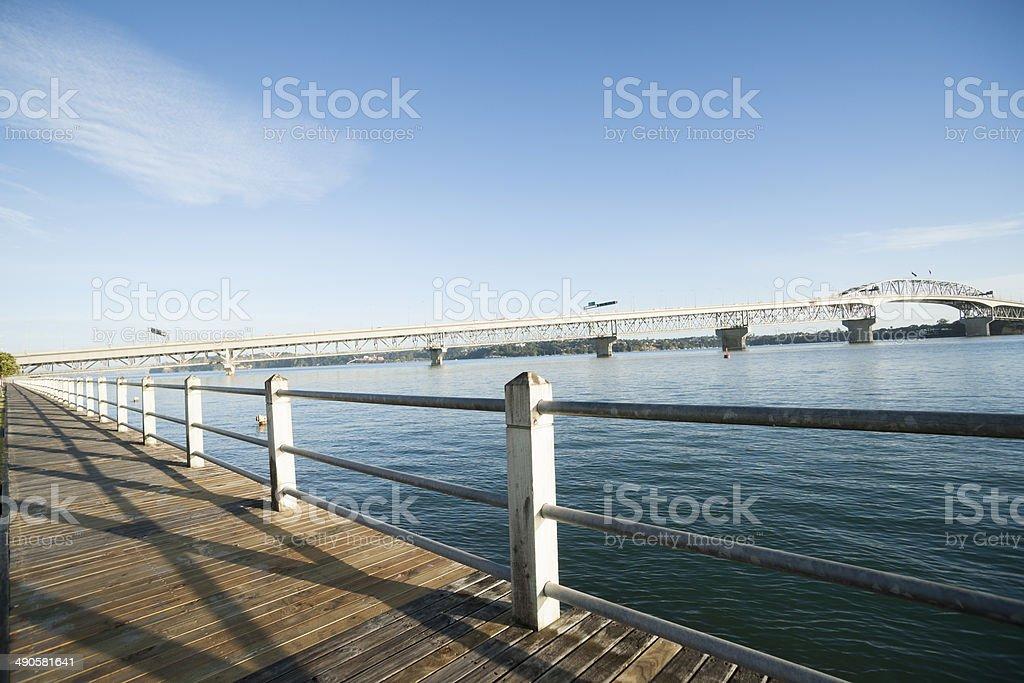 Auckland Harbor Bridge. stock photo