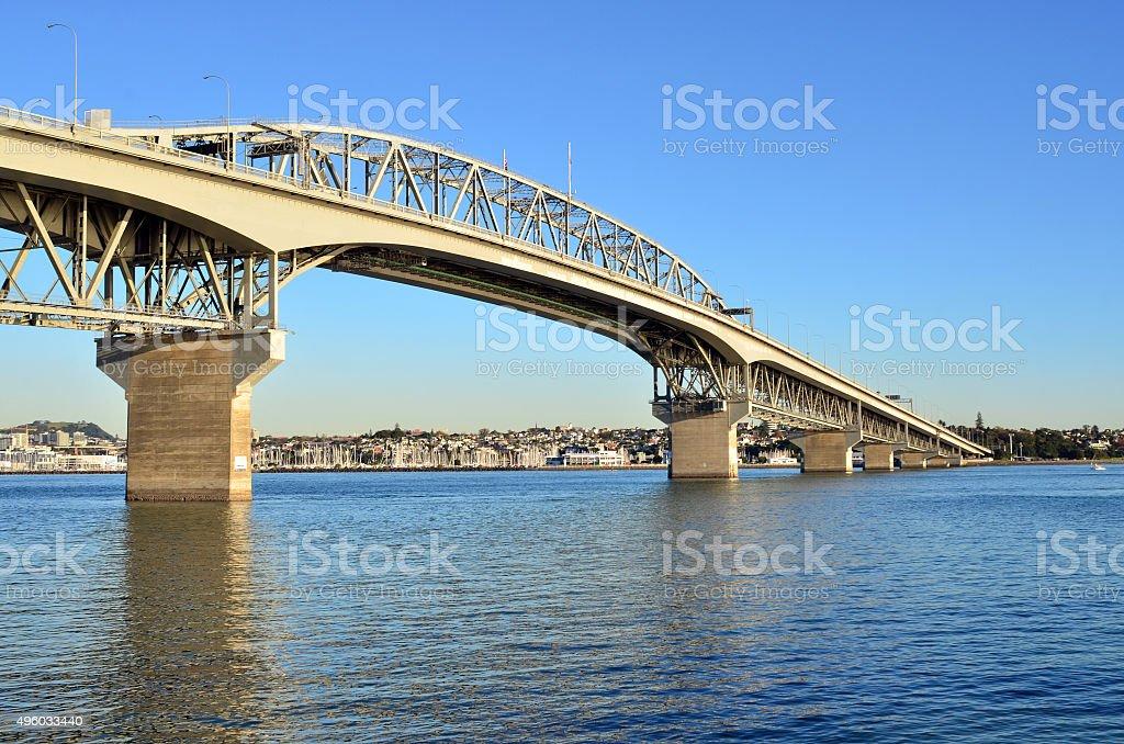 Auckland Harbour Bridge - New Zealand stock photo