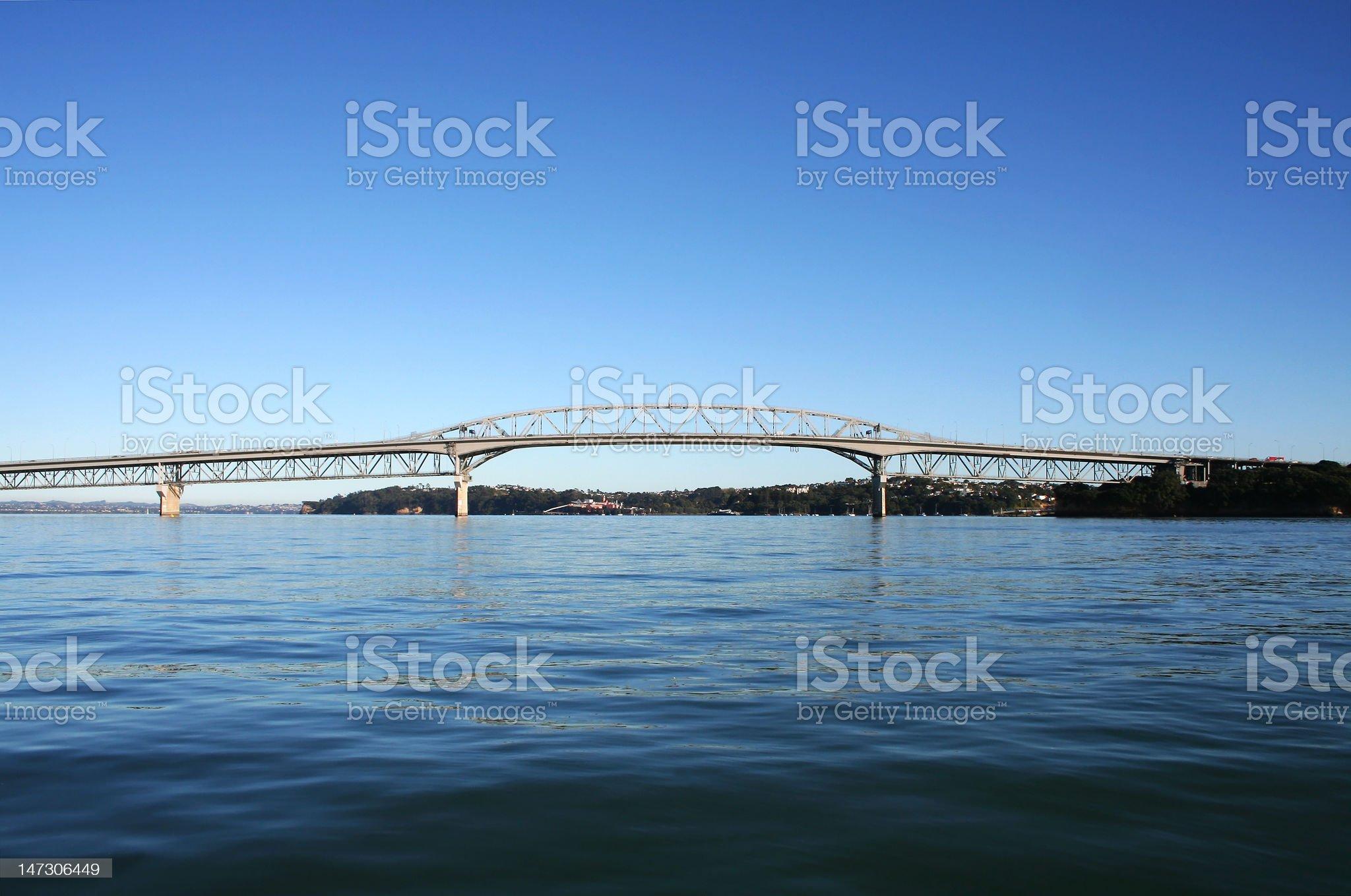 Auckland Harbour Bridge royalty-free stock photo