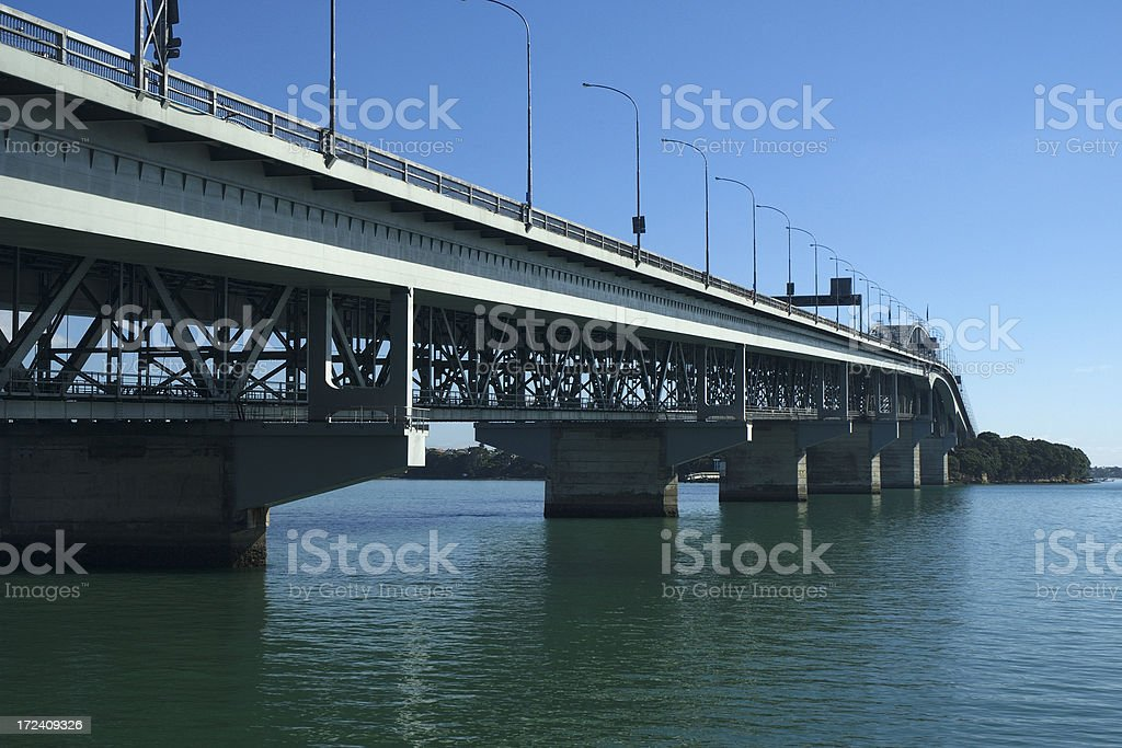 Auckland Harbour Bridge royalty-free stock photo