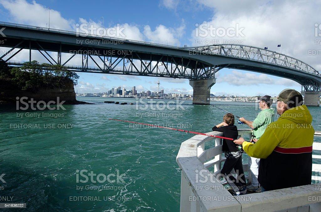 Auckland Harbour Bridge stock photo
