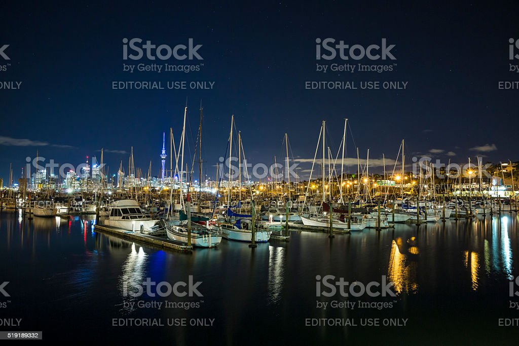 Auckland Harbour stock photo